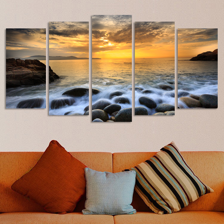 Aliexpresscom buy banmu 5pcs sotherndown surreal wall for Best brand of paint for kitchen cabinets with hanging canvas wall art