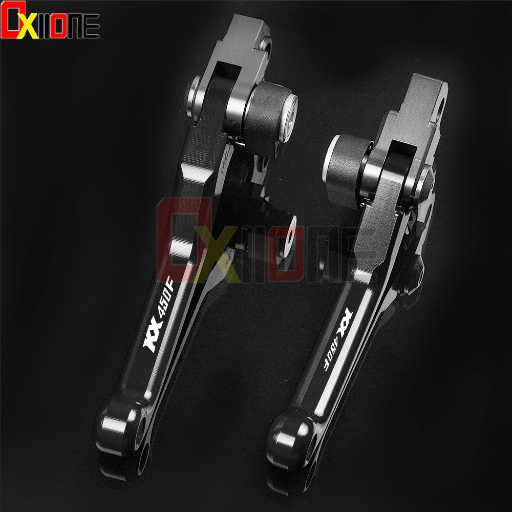 kx450f Motocross Motorcycle Accessories CNC Pit Dirt Bike Brake Clutch Levers Handle FOR KAWASAKI KX450F KX 450 F 2013 2018 in Levers Ropes Cables from Automobiles Motorcycles