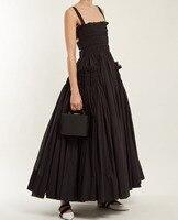 Cakucool Women Classic Black Dress Sleeveless Ball Gown Long Vestido Gothic Backless Sexy Sundress Vintage Slip Dresses