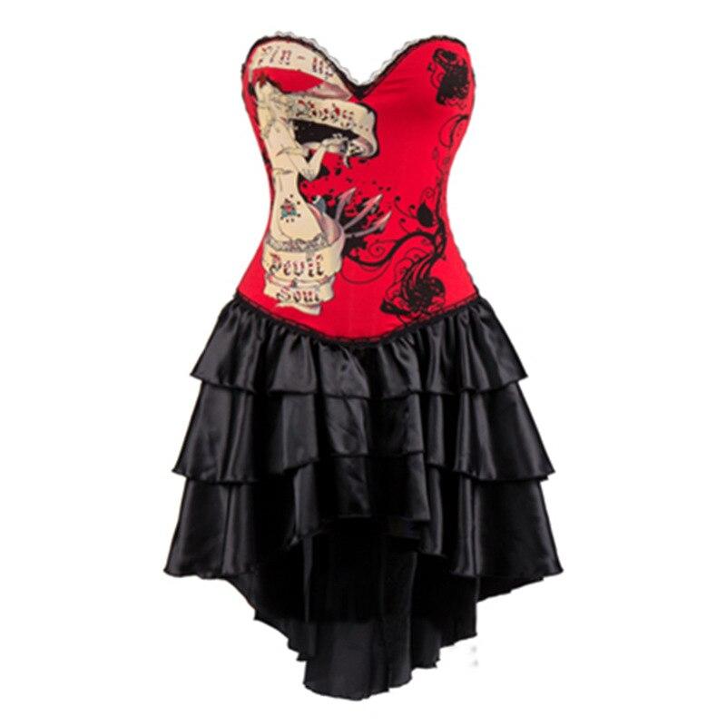 2017 or Phoenix Sexy Corset gothique robe une pièce Steampunk vêtements femmes Burlesque robes Corsets et Bustiers surbuste