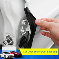 QHCP Rubber Car Front Rear Door Seal Strip Soundproof Door Sealing Edge Trim Sticker Fit For Toyota Camry 2018 Auto Accessories