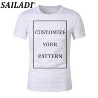 SAILADI Men Women Customize Print Your Own Design pattern Breathable Outdoor Running Short Sleeve soccer Jersey Training T Shirt