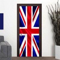 3D Brytyjski union jack Ścienne Naklejka Naklejka Art Decor Vinyl Wymienny Plakat Sceny Okna Drzwi RJL13 Hurtowe Darmowa Wysyłka
