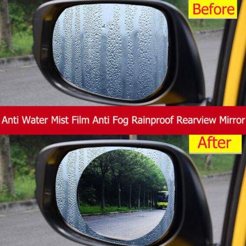 2x Car UV Protection Kids Rear Car Waterproof Mist Anti Fog Rainproof Rearview