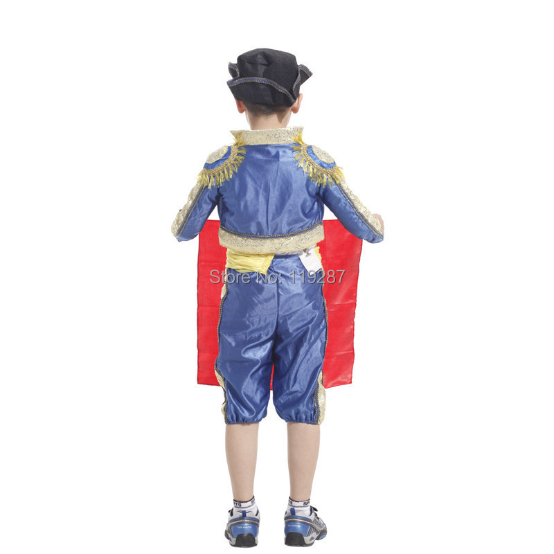 Childrens Party Supplies Spanish Matador masquerade cosplay costume Halloween Costume For Kids boys dance clothing Costume