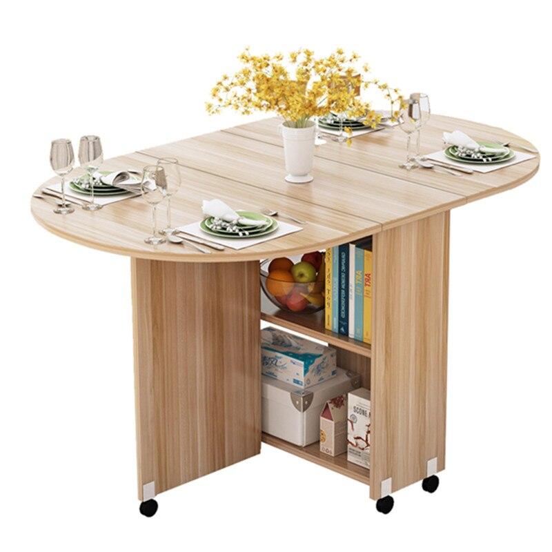 table a manger pliable et mobile armoire de rangement de table de cuisine en bois avec roues multidirectionnelles portable