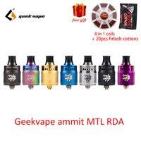 Geekvape Ammit MTL RDA распылитель для aegis legend 200 w mod 12 Регулировка воздушного потока герметичный дизайн vs drop rda