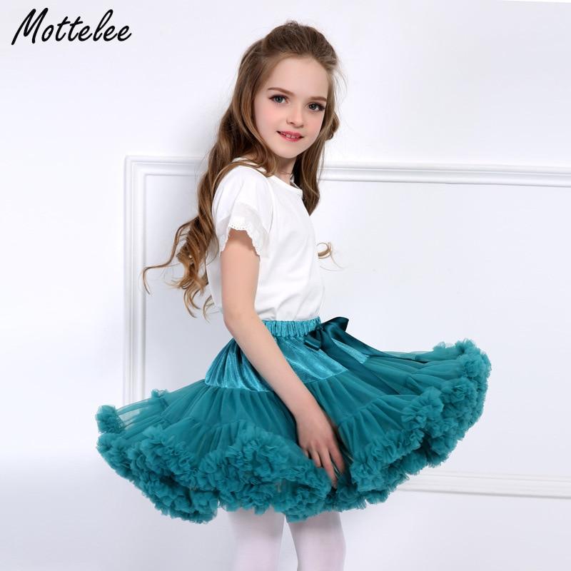 Cielarko Fluffy Girls Skirt Baby Girl Tutu Skirts Kids Fancy Dancewear Solid Flower Girl Pettiskirt Children Tulle Petticoat недорго, оригинальная цена