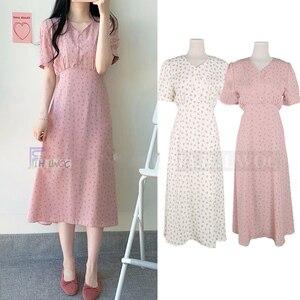 Image 5 - Mùa hè Đầm voan Người Phụ Nữ Hoa Kỳ Nghỉ Ngày Dễ Thương Hàn Quốc Nhật Bản Phong Cách Quần Áo Thiết Kế MỘT Dòng THẮT NƠ ĐẦM màu hồng 603