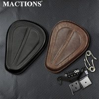 Motorcycle Solo Seat Saddle Seat With Brackets Spring PU Leather Black/Chrome For Harley Sportster XL 2004 06 2010 up