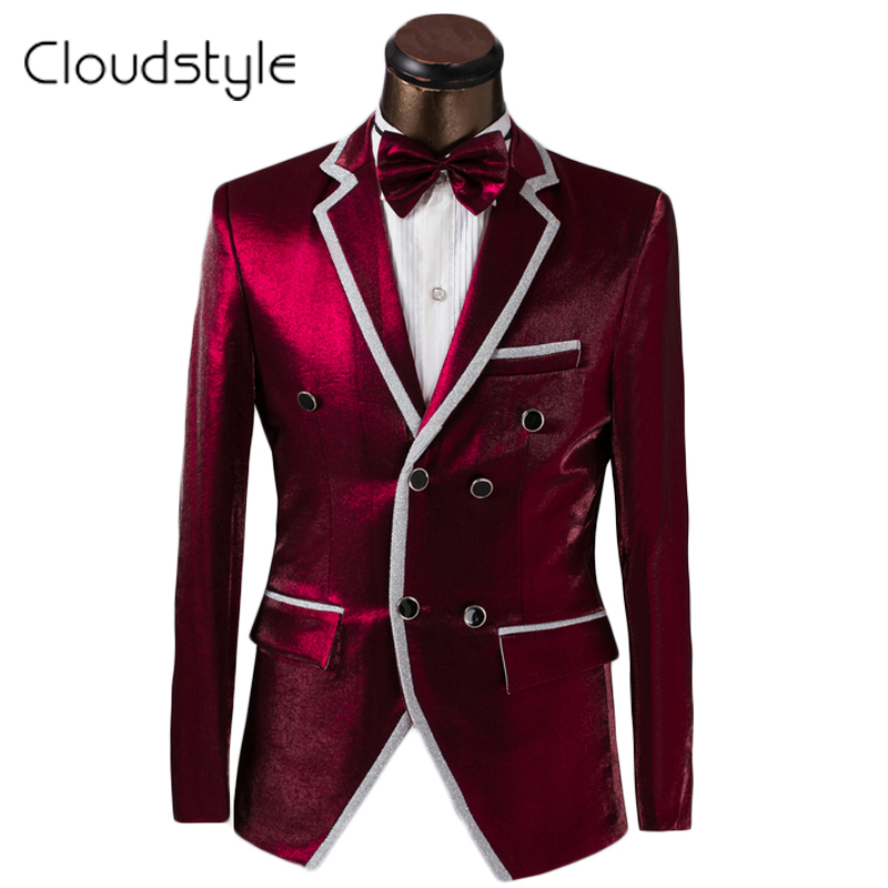 2017 Brand Clothing Men Suit Tuxedo Fashion Prom Dress Wine Red ...