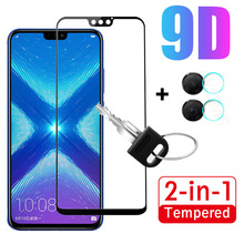 2 in 1 9D Tempered Glass For Huawei Honor 8X Glass Screen Protector Glass For Ho