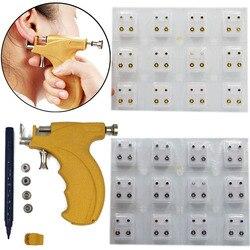 Profissional universal orelha piercing arma de orelha piercing instrumen prata ouro birthstone gem orelha lábio helix brinco do parafuso prisioneiro jóias