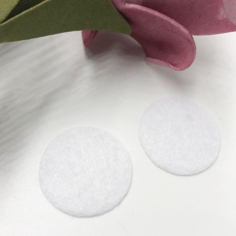 100pcs Felt 25mm Circle Appliques - White Free Shipping