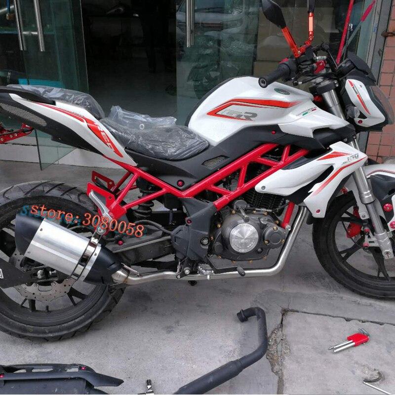 Benelli TNT150 moto sans lacet d'échappement système complet modifié avant lien moyen tuyau DB tueur silencieux pour pour pour Benelli 150