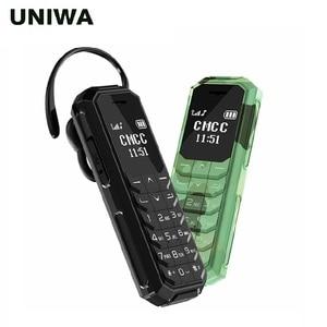 UNIWA KK2 Mini Mobile Phone Kid Bluetooth Wireless Earphone 2G Unlocked Small Cellphone Magic Voice As BM10 BM70 BM 50(China)