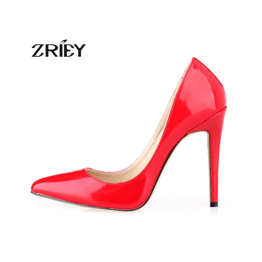 Women Sexy Pumps Pointed Toe High Heels Shoes Patent Leather Party Wedding Sapatos Femininos facndinll new black patent genuine leather pointed toe rhinestone sexy high heels lace up women pumps ladies party casual shoes