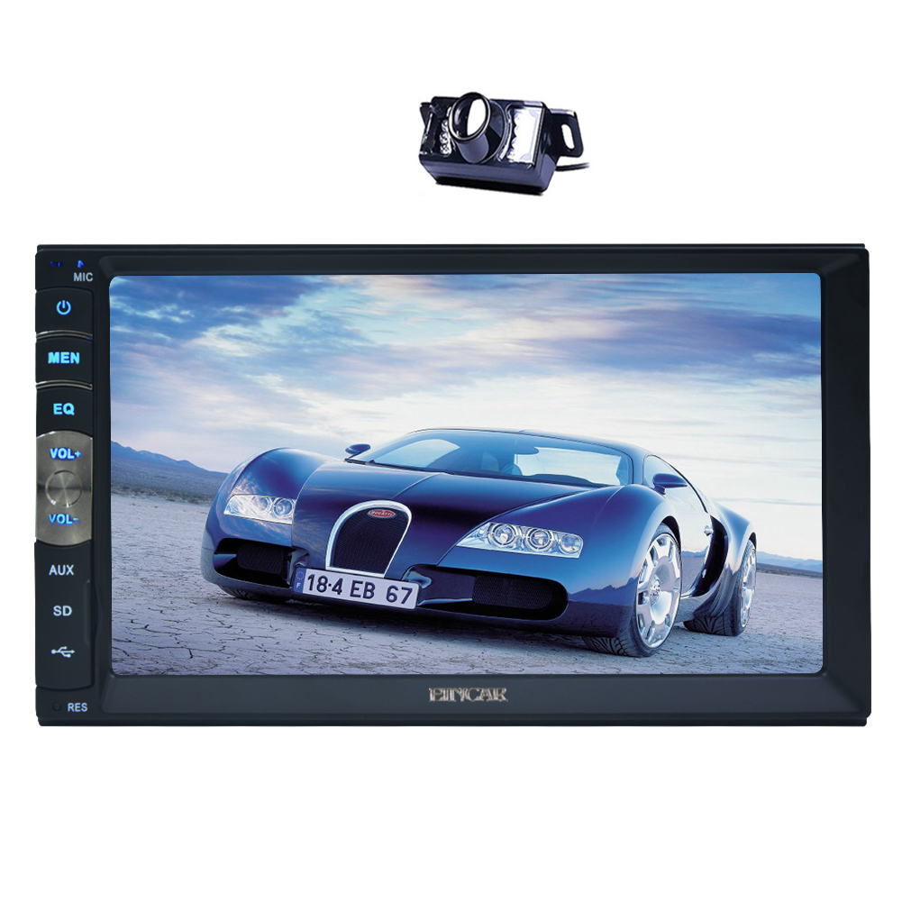 7 Touch Screen MP5 Stereo NO-DVD Player Bluetooth Hand-free Call Head Unit Car Radio Autoradio USB/SD Music SWC free Camera FM leshp 7001 hd 1080p touch screen with am rds music movie player bluetooth car radio video mp5 player autoradio fm aux usb sd