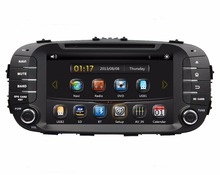 HD 2 din 8″ Car DVD GPS Navigation for Kia Soul 2014 With Bluetooth IPOD 1080P TV Radio / RDS SWC AUX IN USB