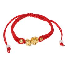 Charms Bracelet Jewelry Fashion Bracelet for Chinese Feng Shui Gold Pi Xiu Kabbalah Red String Bracelet Evil Eye Protection(China)