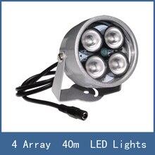 High Lighting Waterproof 40m illuminator Fill Assist 4 Array Night Vision infrared IR LED Lights for CCTV Security Camera