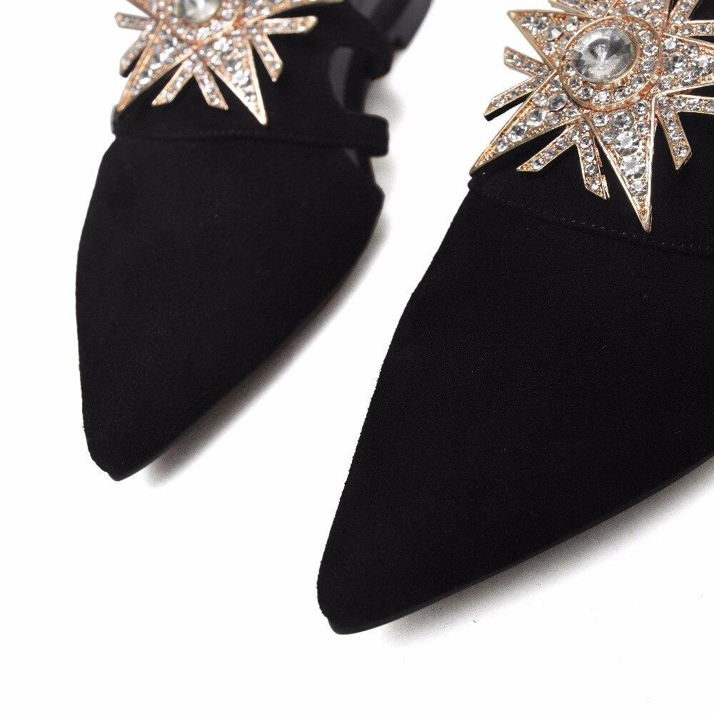 Grande 2018 Extérieure Khaki Cristal Fleurs La Boucle Diapositives Furtado 40 Mode Taille 43 black Glissement Casual D'été Arden Sur Appartements Pantoufles Femme Mules uOPkXZi