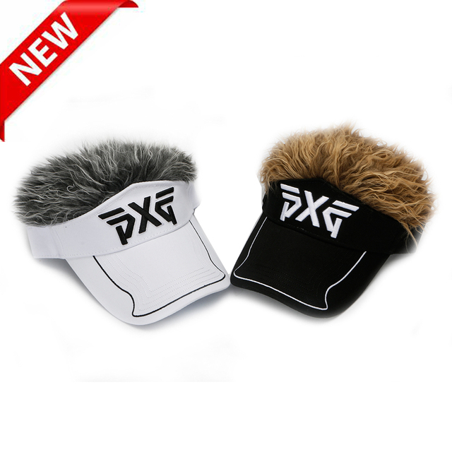 Golf hat PXG cap Men Women Golf Cap Baseball Cap Outdoor Sports Fake Flair  Hair Sun Visor Hat free shipping 9a0a76d5b56