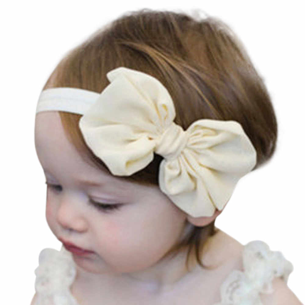 3Pcs Kids Elastic Floral Headband Hair Girls baby Bowknot Hairband Set baby girl hair accessories headband baby hair clips #25