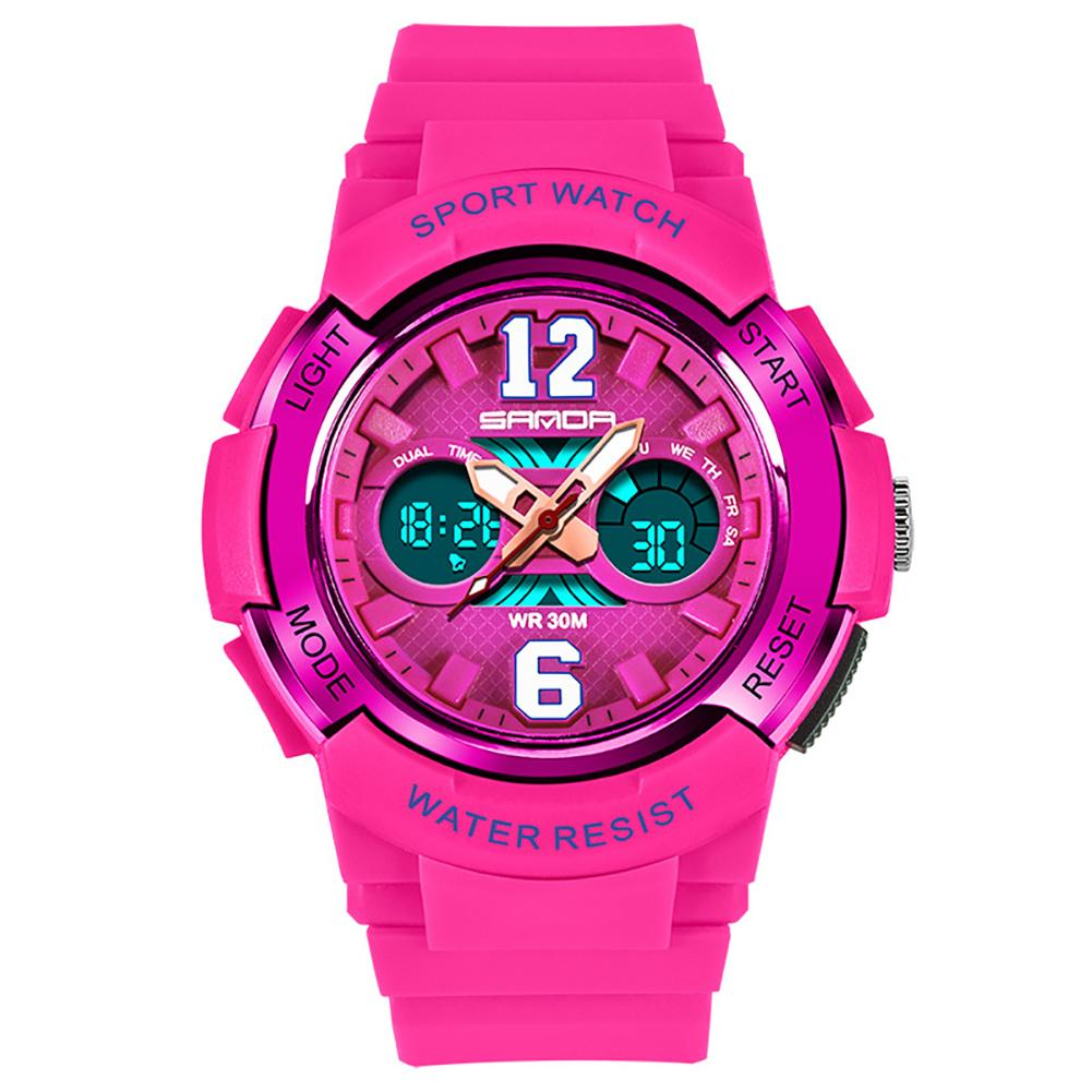 Fashion Kids Girls Boys Unisex Luminous Alarm Waterproof Digital Display Sports Wrist Watch freestyle unisex 10019170 tide trainer digital display japanese quartz brown watch