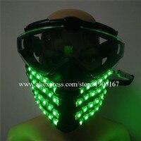 Красочные подсветкой вождения Маски для век Уход за кожей лица гвардии мигающий светящийся Light Up маска Герой DJ партия Хэллоуин День рождени