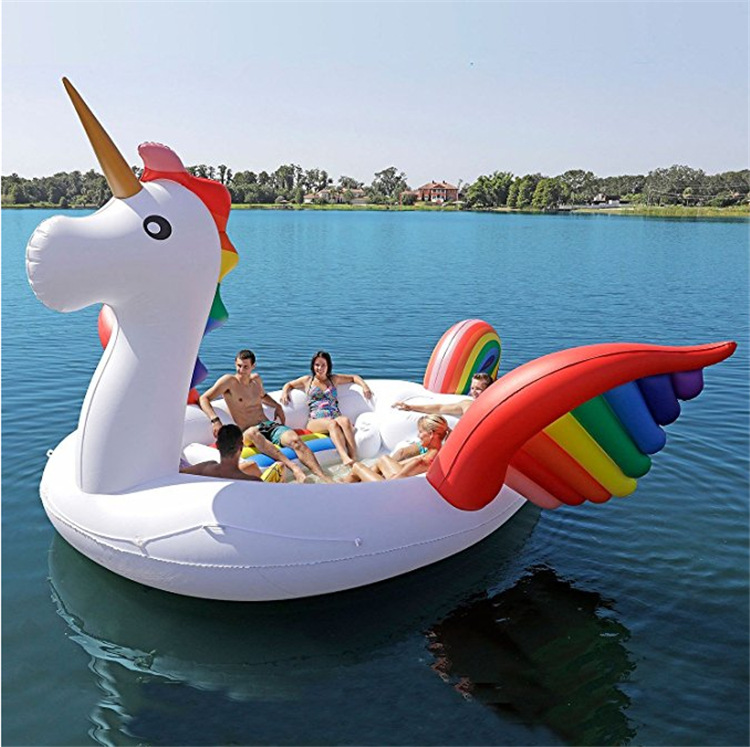 Giant Inflatable Unicorn Party Bird Island Big size unicorn boat giant flamingo float Flamingo Island for 6-8person