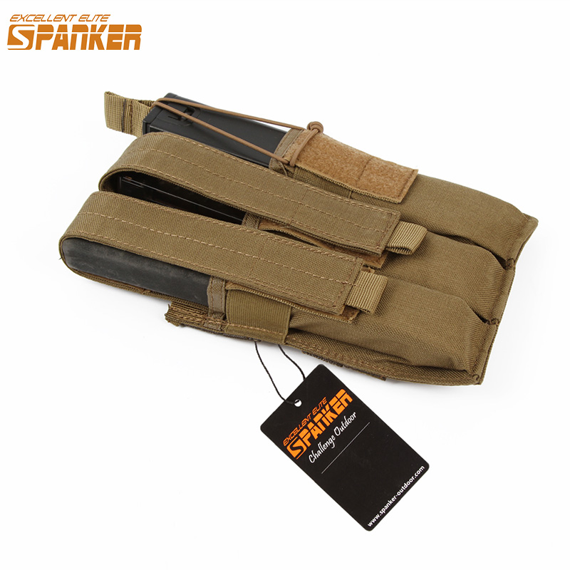 EXCELLENT ELITE SPANKER Outdoor Tactical Triple KRISS/MP7 Magazine Chest Rig Bag Military Molle Pouch Hunting Accessories Bags excellent elite spanker waterproof military tactical backpack hunting accessories sport bag molle tactical pouch hunting bag