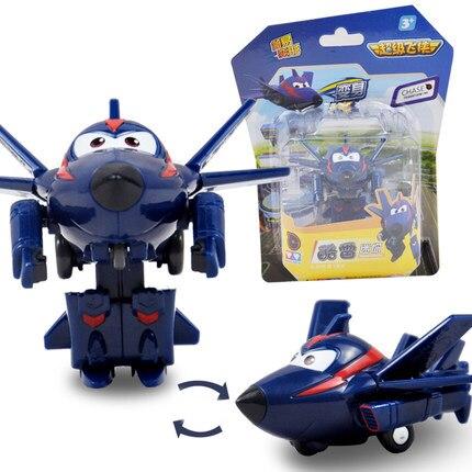 12 стилей, мини Супер Крылья, деформация, мини реактивный ABS робот, игрушка, фигурки, Супер крыло, трансформация, игрушки для детей, подарок - Цвет: With box Chase