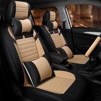 Лучшее качество! Полный комплект автомобильных чехлов для сидений + крышка рулевого колеса для Mercedes Benz GLE 2017 2015 прочные чехлы для сидений, бе