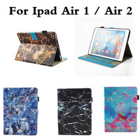 New Marbling Pattern PU Leather Case With Card Slots For Apple IPad Air 1 Folio Stand