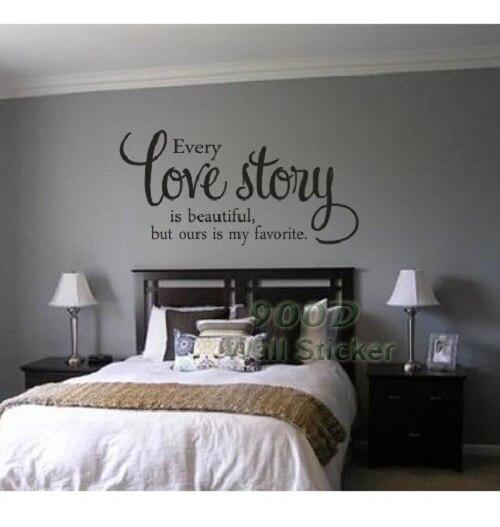 Love Story cita etiqueta de la pared, DIY decoración del hogar arte decoración t