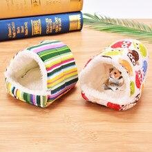 Bonito pequeno animal de estimação gaiolas coelho hamster colorido casa cama rato guiné inverno quente pendurado gaiola ninho de hamster