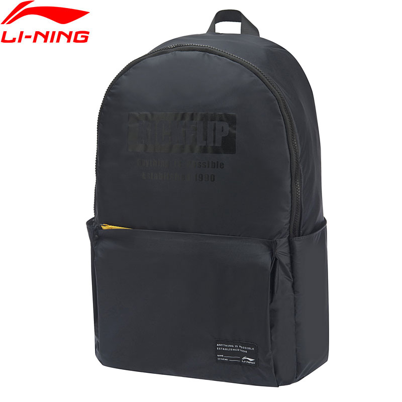 Li-Ning Unisex The Trend Backpack 24L Adjustable Shoulder Strap Side Pocket LiNing Li Ning Leisure Sports Bags ABSP032 BBB073