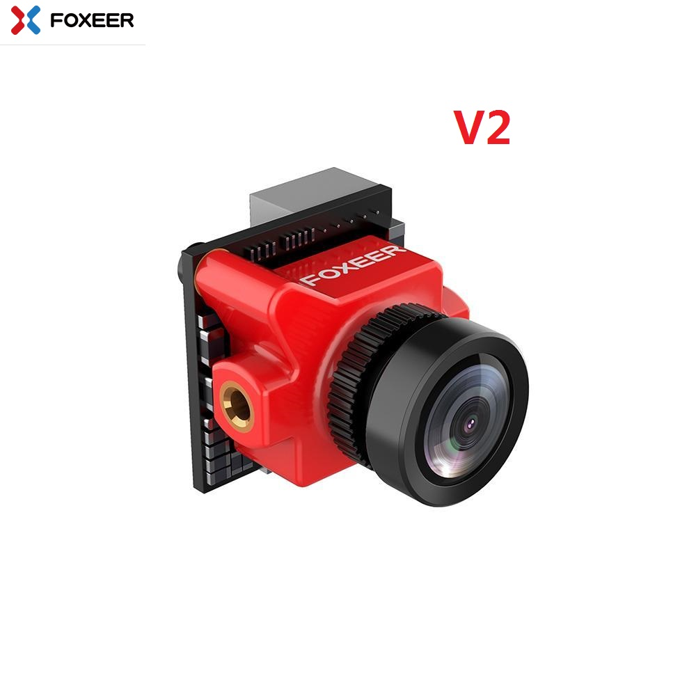 Foxeer Predator Micro V2 1.8mm 1000TVL PAL/NTSC Super WDR FPV Camera w/ OSD for RC Drone(20%off Coupon: JC20) - Red PAL image