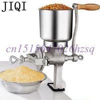 JIQI Household Manual Cast Iron Tin Plating Grinder Powder Mill For Herbal Medicine Grains Peanut Walnut