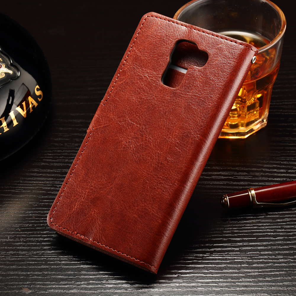 Luxury Retro PU Leather Case For Huawei Honor 7 Enhanced Edition Wallet Flip Stand Cover Card Slots Cell Phone Case Coque fundas