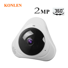 Konlen 2MP 1080P اللاسلكية البسيطة فيش بانورامي فيديو مراقبة كاميرا Wifi 360 درجة 2 طريقة الصوت للمنزل شاشة أمن