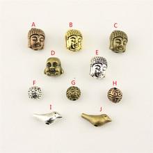20Pcs Wholesale Bulk Accessories Parts Buddha Head Mix Pendant Fashion Jewelry Making HK186