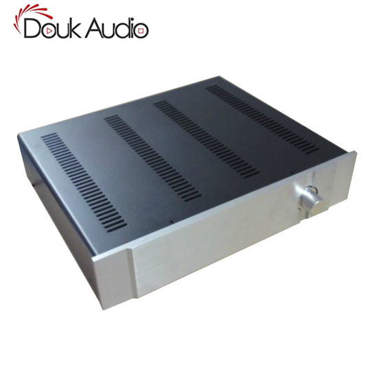 Douk Audio Aluminum Panel Iron Body Chassis Case Enclosure DIY Cabinet Preamplifier Box DIY douk audio front panel radiating aluminum chassis power amplifie cabinet diy case black box