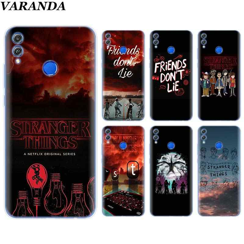 stranger things don't lie me Silicone Soft Case for Huawei Honor 8X 8C 7A 7C 7S 9 10 Lite Y5 Y6 Y7 Y9 2019 Phone Case Coque
