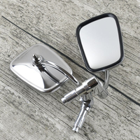 Universal Cafe Racer Rearview Mirrors Stainless Steel Mirror Vintage Motorcycle Handlebar Rearview Mirrors for Chopper Bobber