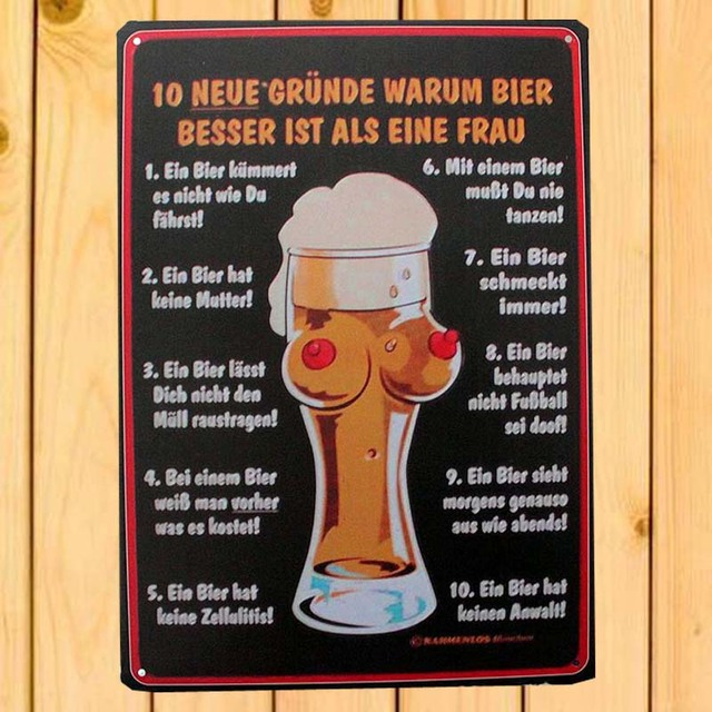 Ten Advantages Of BEER TIN SIGNS Wall Poster Metal Stickers Vintage Hone Wall  Decor Pub Bar