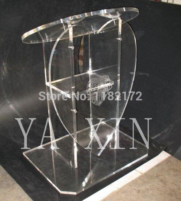 Free Shipping Hot Selling  Heart Shape  Acrylic Pulpit Lectern Podium