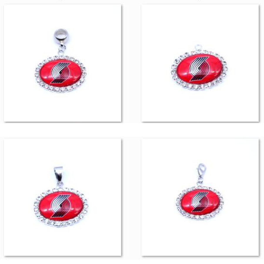 Pendant Charms Rhinestone Portland Trail Blazers Charms Basketball Sports Dangle Charms for Women Men Diy Jewelry Fashion 2018