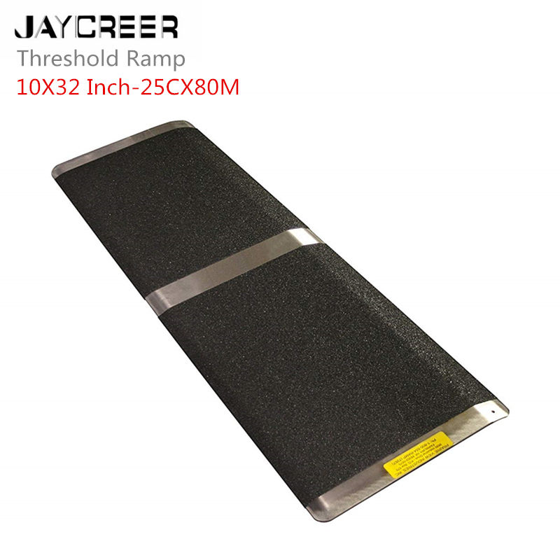 JayCreer Threshold Ramp 25X80CM Portable Threshold Ramp Wheelchair Doorway Access Door Anti Slip Ramp